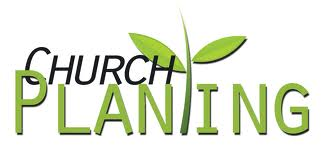 Church palnting image with growing branch with leaves