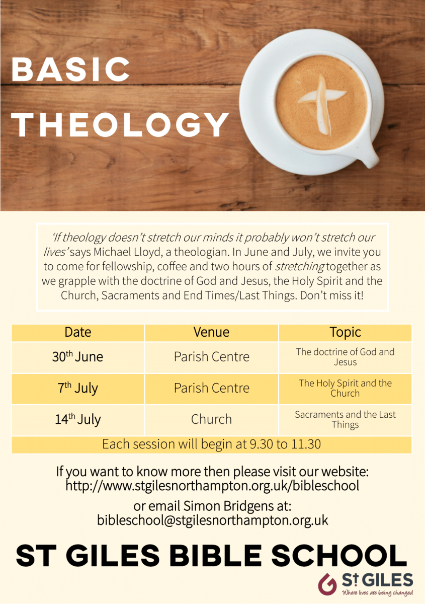 Leaflet with details of the Basic THeology course