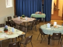 Tables ready for Lent Lunches