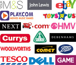 logos of various stores you can do easy fundraising with