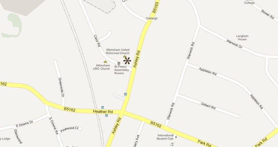 Trinity Hale map