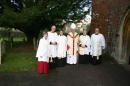 Staff Clergy team with Bishop Robert 2014