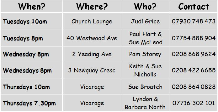 St Andrews Church   House Groups
