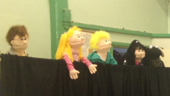 Puppets at Junior Church Party