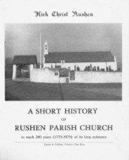 Cover Page of short history of Rushen Parish Church