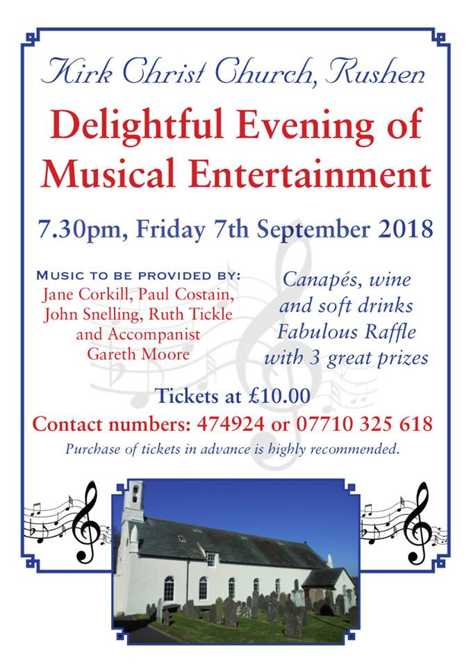 Poster for an Evening of Musical Entertainment