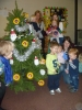 Decorating the Sunflowers tree