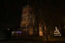 Floodlit church