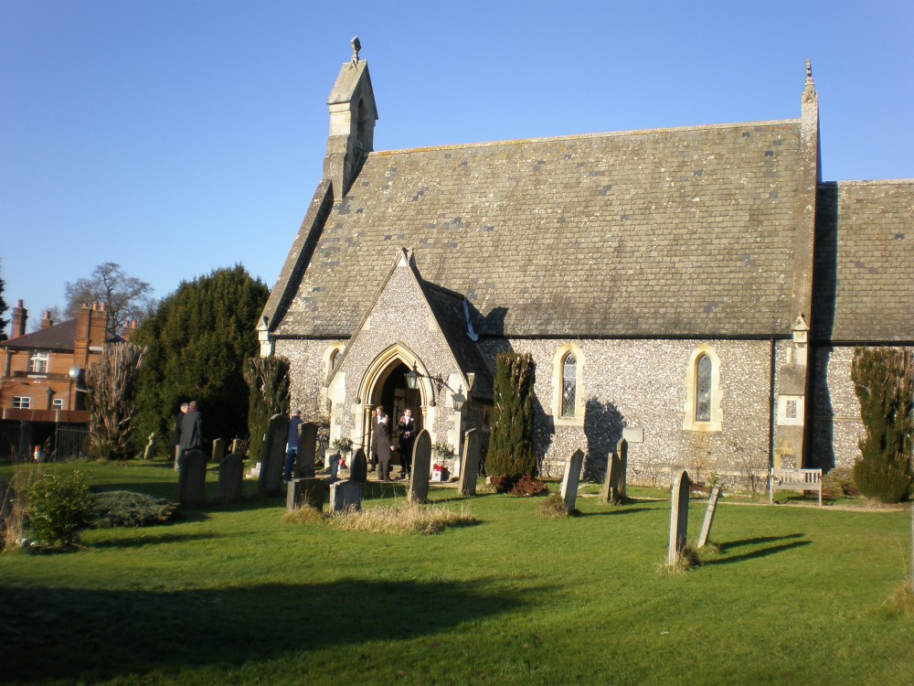 Sunny picture of Holy Trinity church