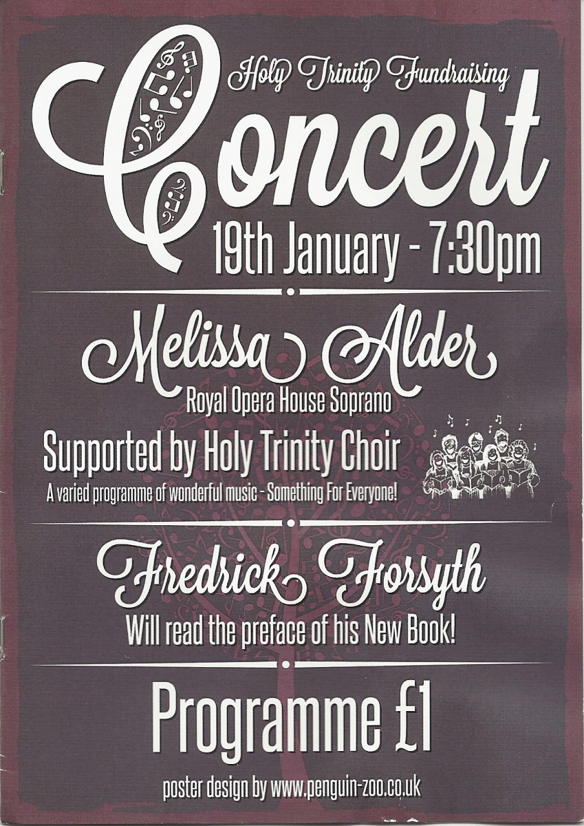 Picture of Programme for fundraising concert, January 2013