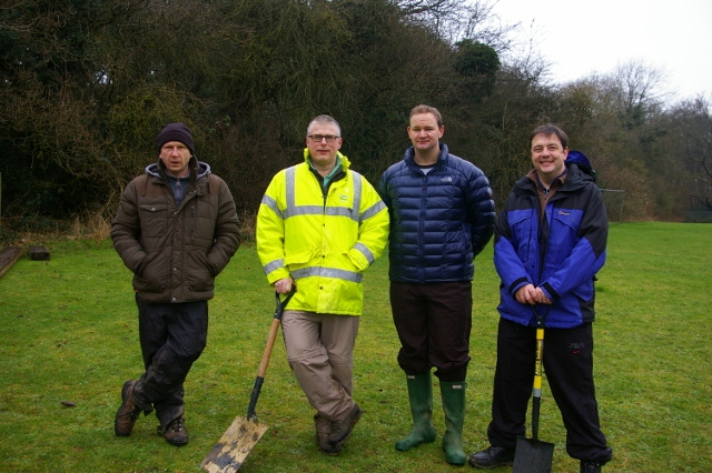 Picture of the 4 members of the initial garden team