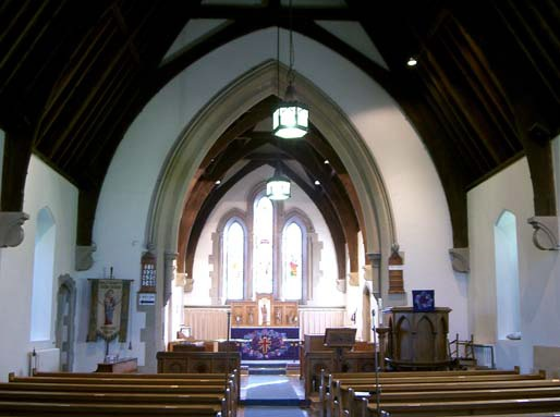 Picture of inside of Holy Trinity church