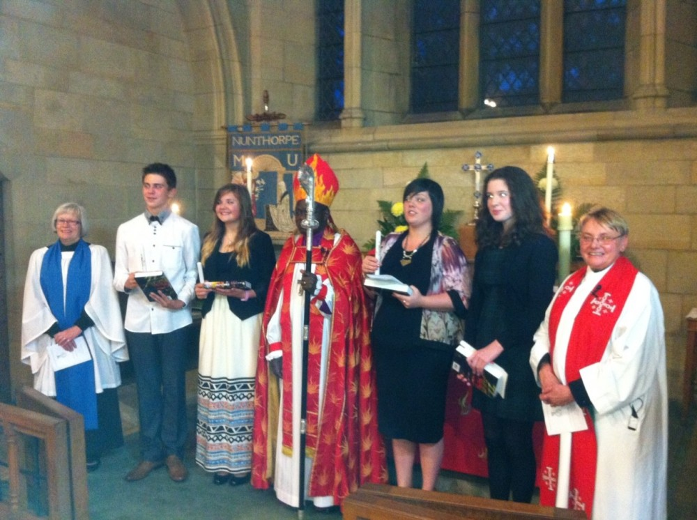 Confirmation in 2013 with the Archbishop of York
