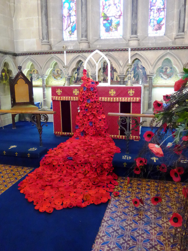 Approximately 900 poppies went into the display! The purple ones represent horses and dogs who also fell during the war.