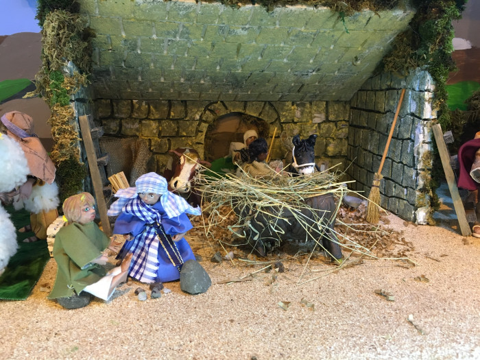 Jesus is born in a stable