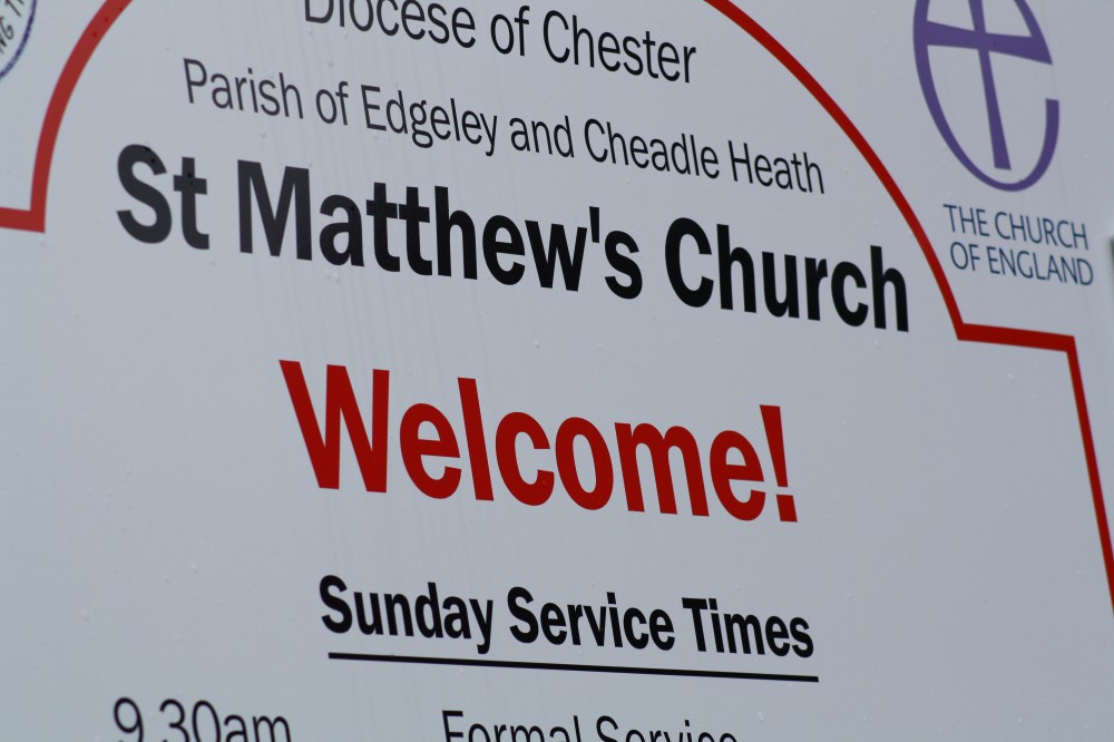 image of St Matthews notice board