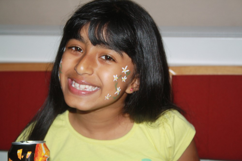 image of girl with face painting