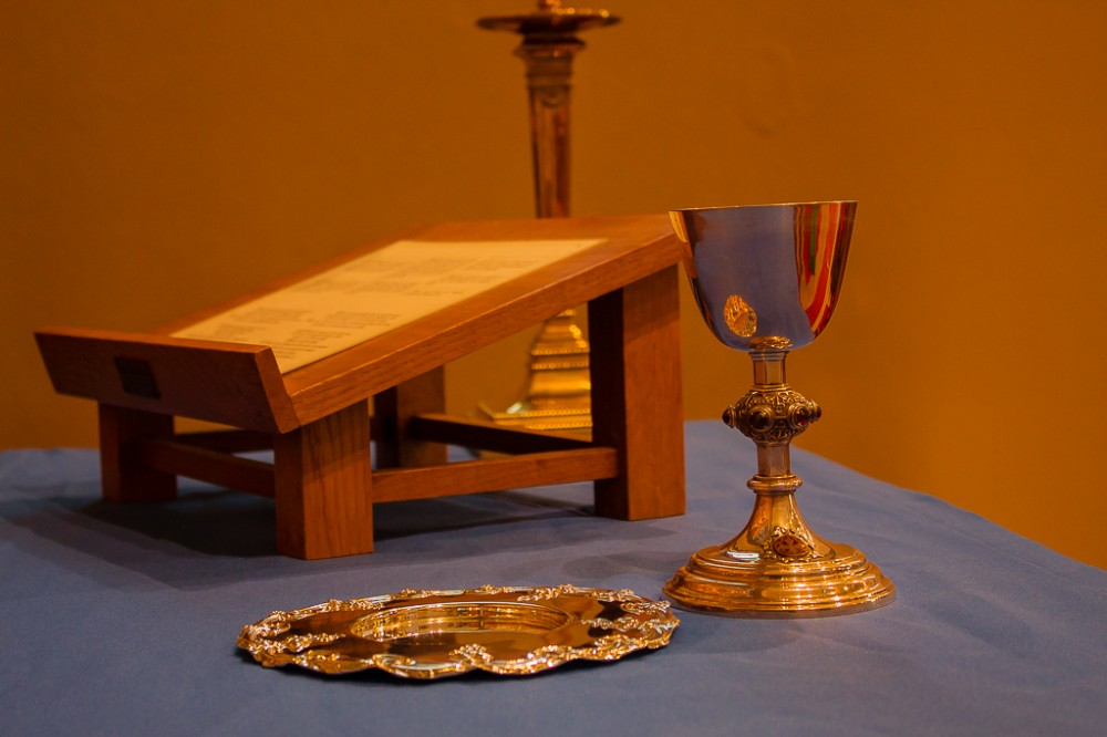 image of communion table