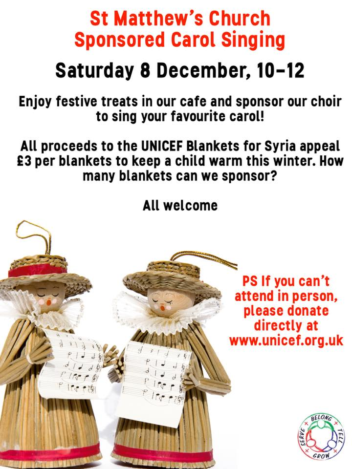 image of carol service poster