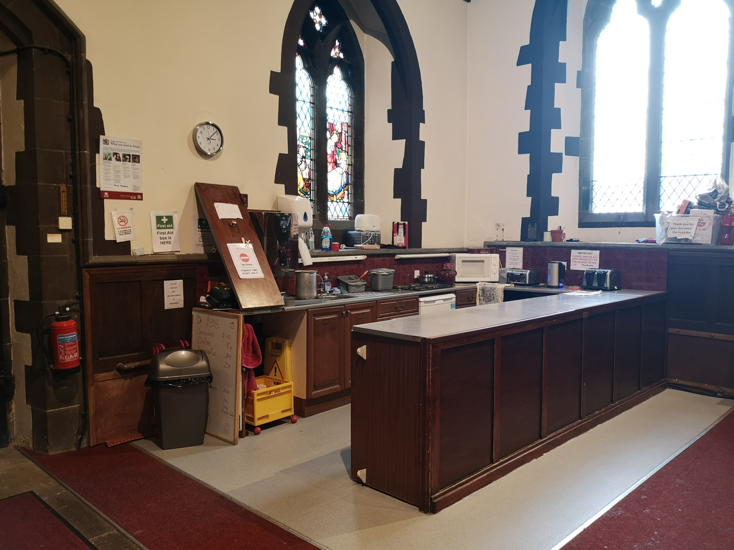 image of kitchen area in church