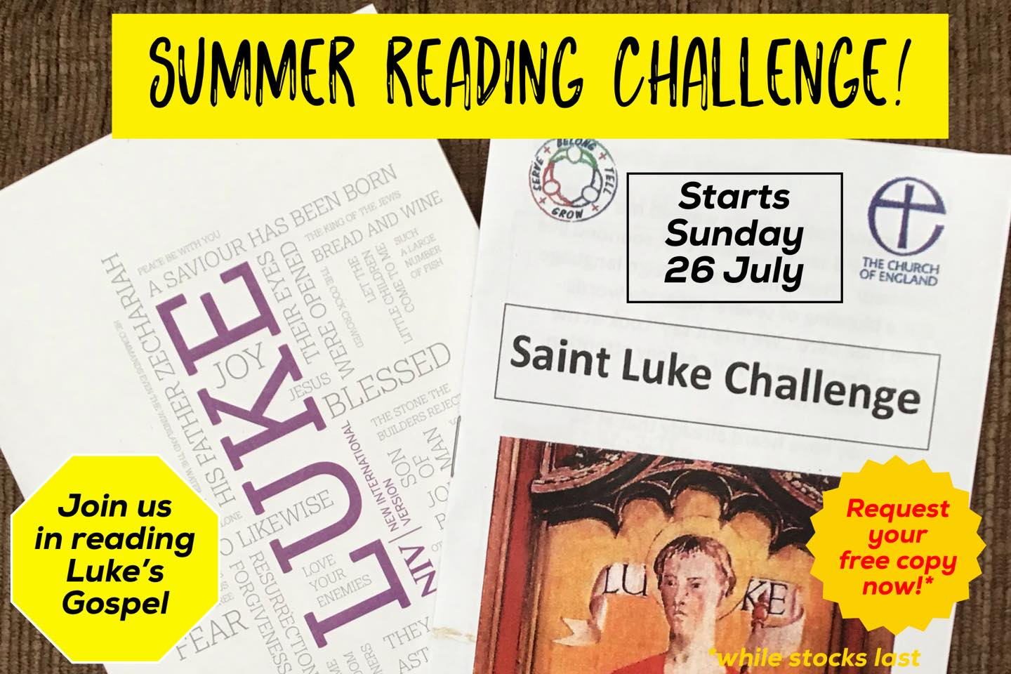 image of summer reading challenge poster