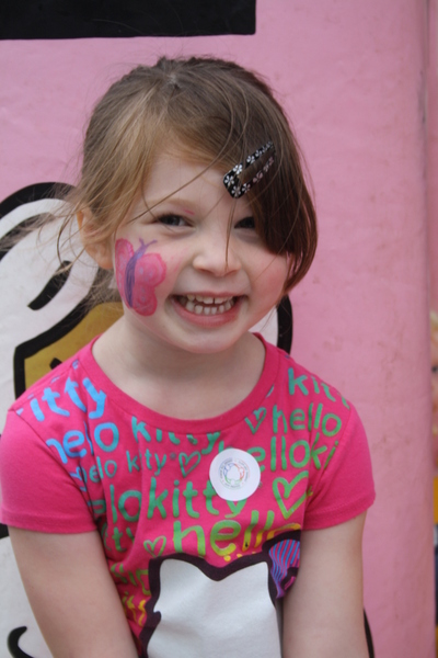 image of child with face painting