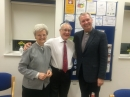 23rd April 2016: Erna and Ian with Rabbi Andrew at the South Bucks Liberal Jews' Passover held at AFC