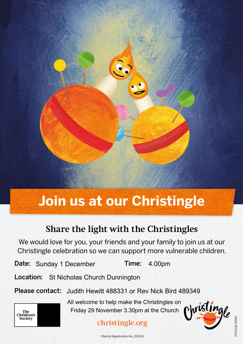 Christingle Sunday 1.12.19 4pm