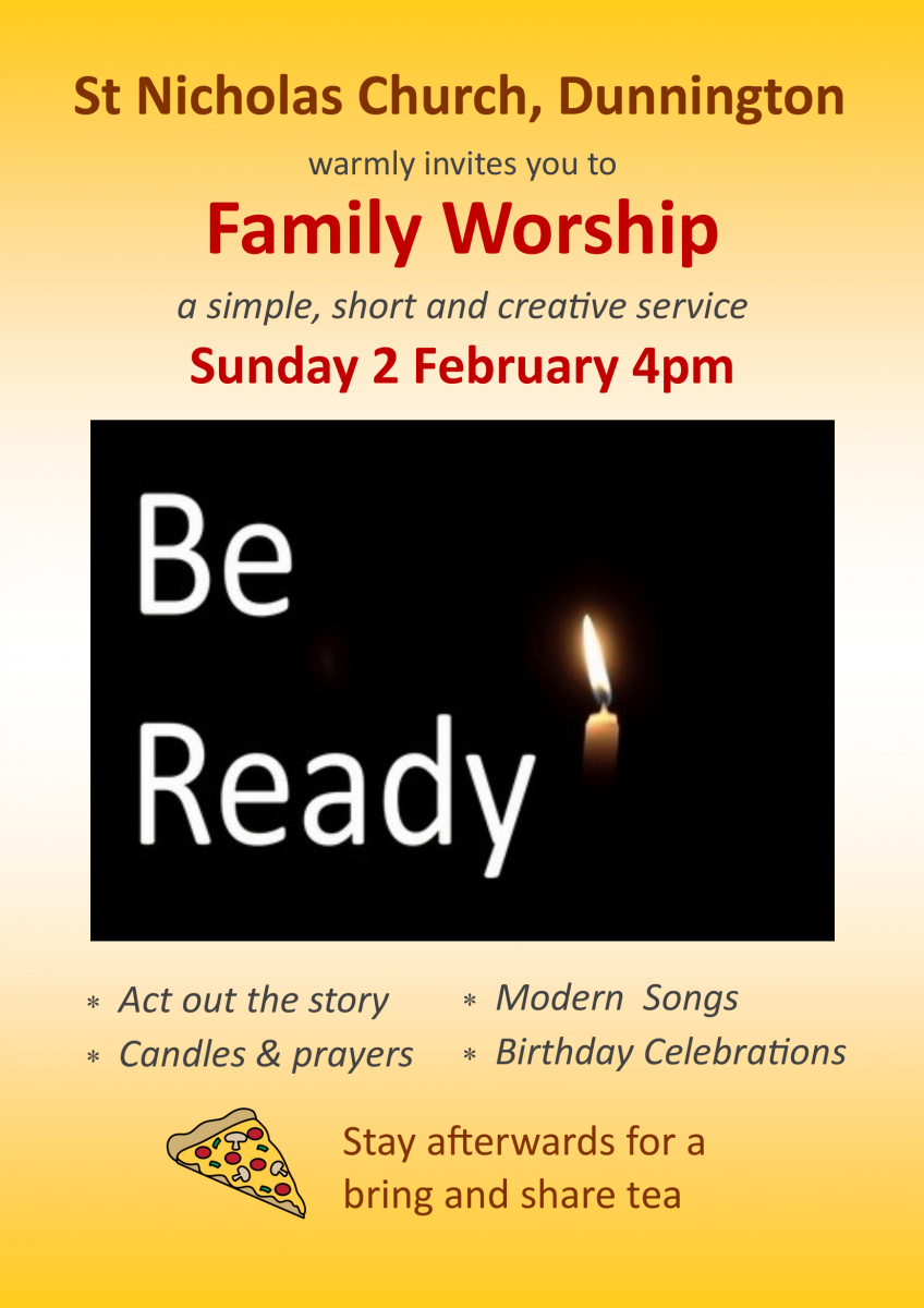 Family Worship 2.2.2020 4pm