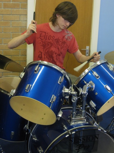 Drummer in the Worship Band