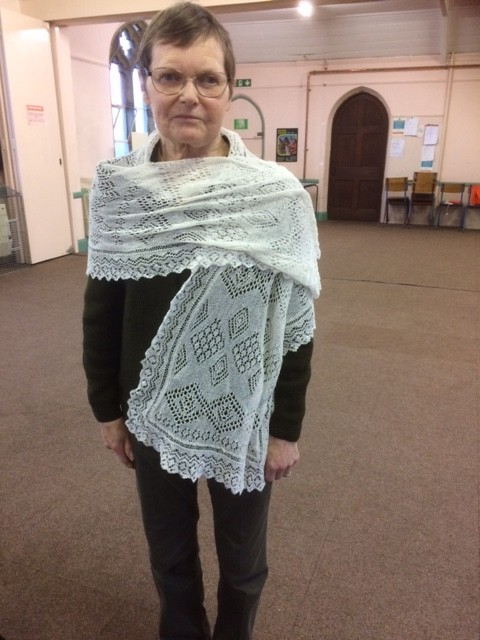 Modelling the beautiful lacework of one of our members