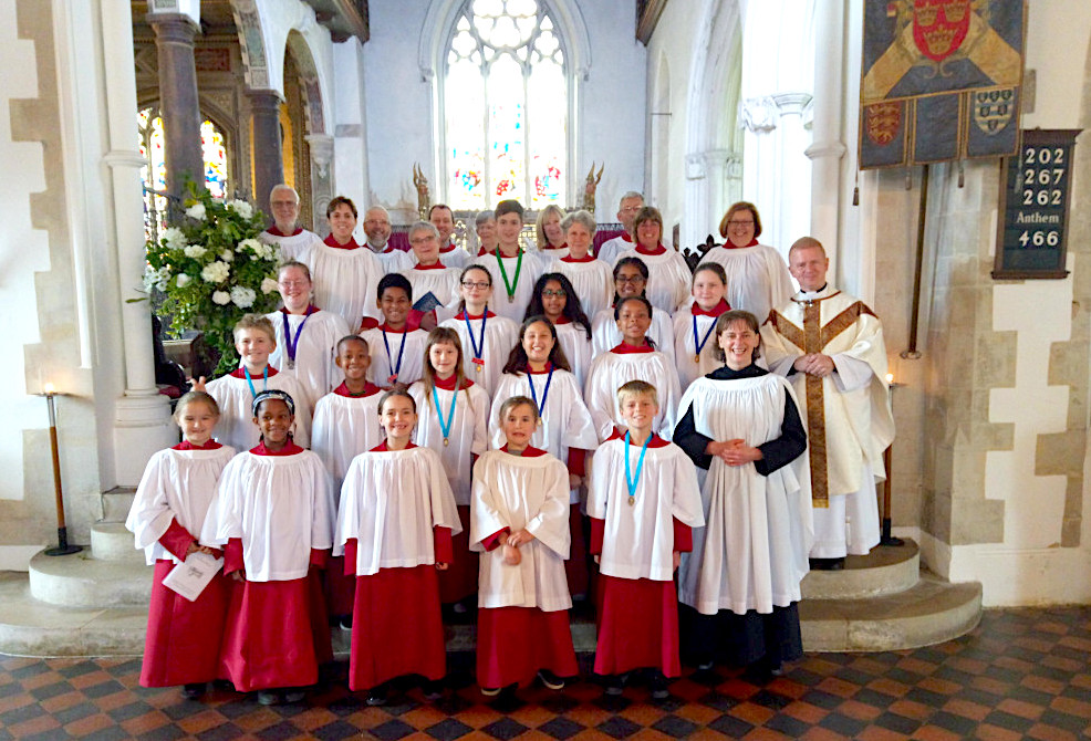 St. Eth's Choir and Y.E.S! on Trinity Sunday 2019