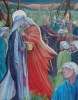 Jesus betrayed by Judas and arrested, by Judy Lane