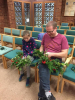 Fatther and Daughter Wreath Making