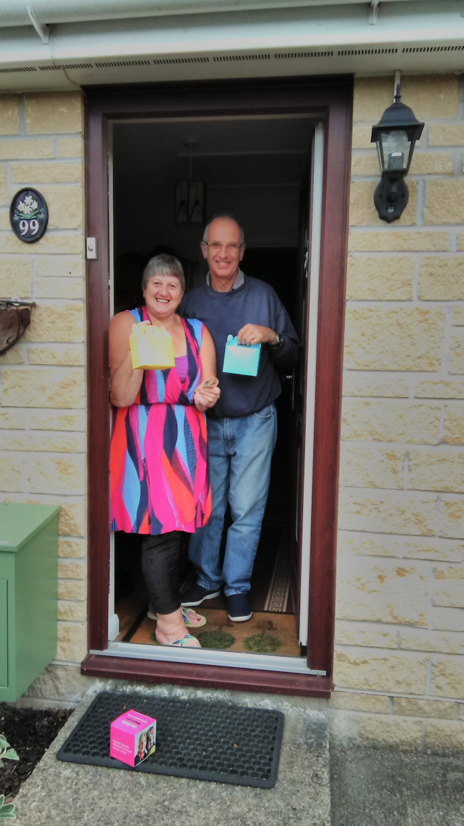 Delivering cream Teas to local villages