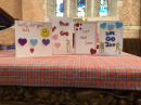 Cards crafted by Children's Church