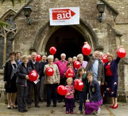 Photo of church members who collected for Christian Aid