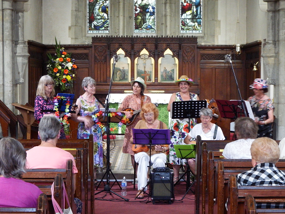 Wight Ukers entertaining us during the Flower Festival