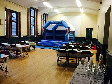 small hall , set up for event