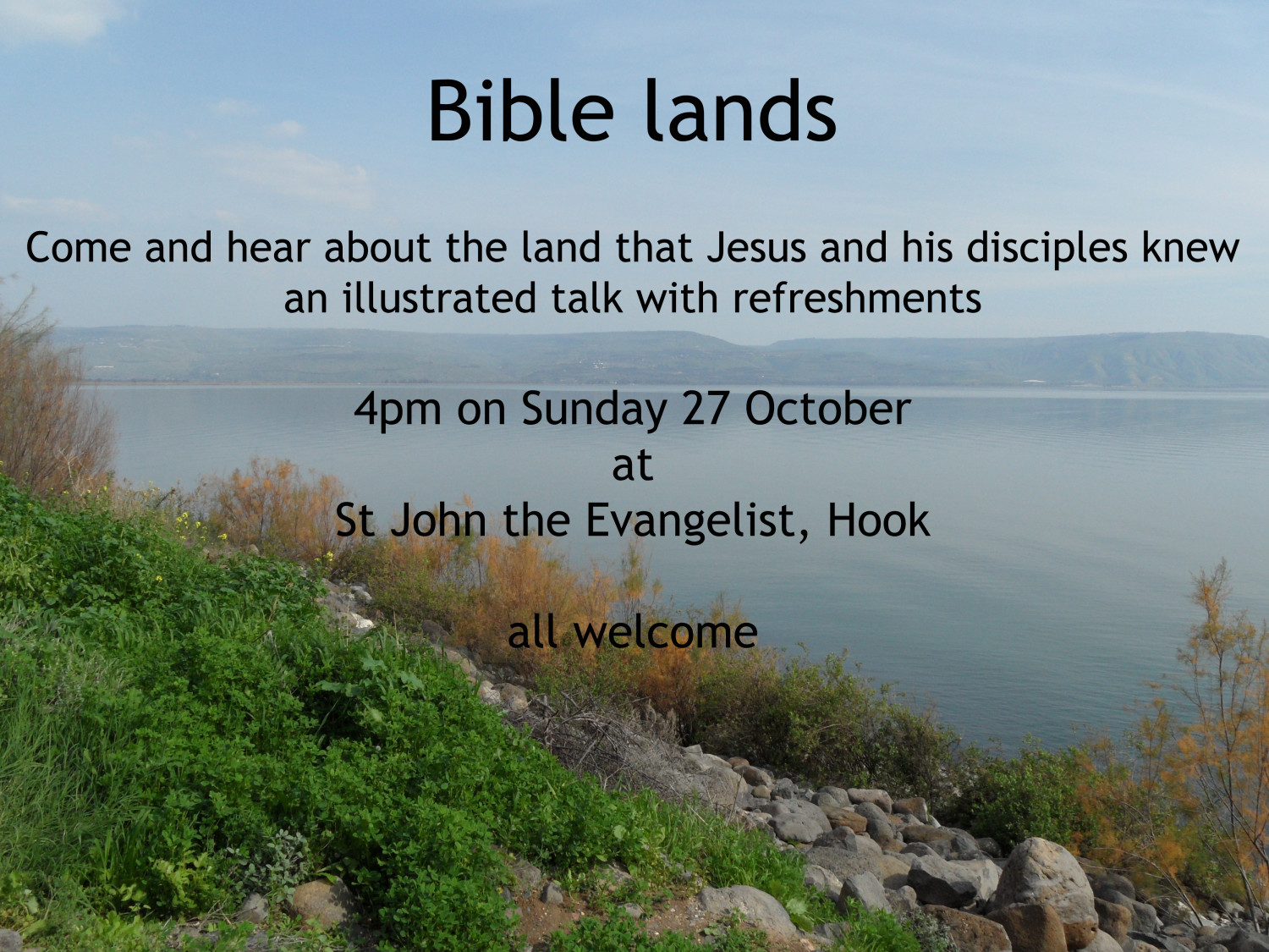 Bible Lands - illustrated talk at St Johns on Sunday 27th Oct at 4pm