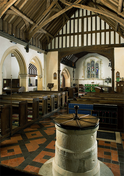 Inside Rotherwick church