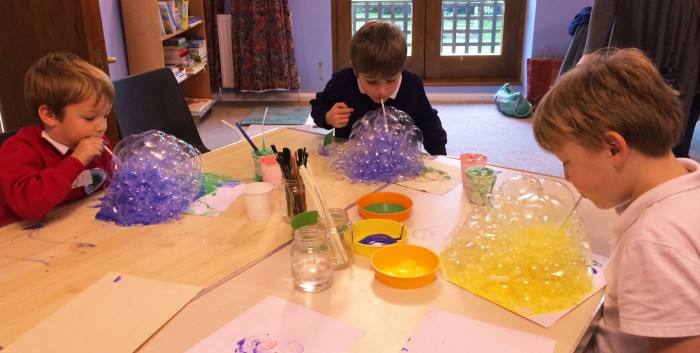 Messy Church - bubbles