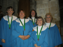 members of St John's choir being awarded RSCM Bronze medals