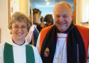 Marion with Bishop David after the Installation as Rector on 24th Feb 2019