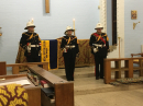 Buglers from the RBL who sounded the Last Post and Reveille during the Act of Remembrance in the service