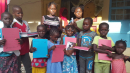 Writing Pads given to village children
