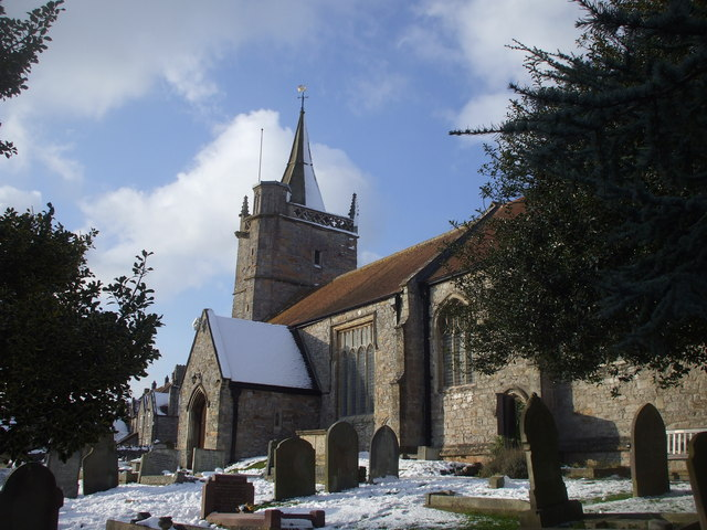 Photo of St Martin's Church in winter