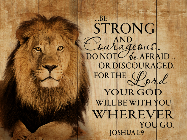 Be strong scripture