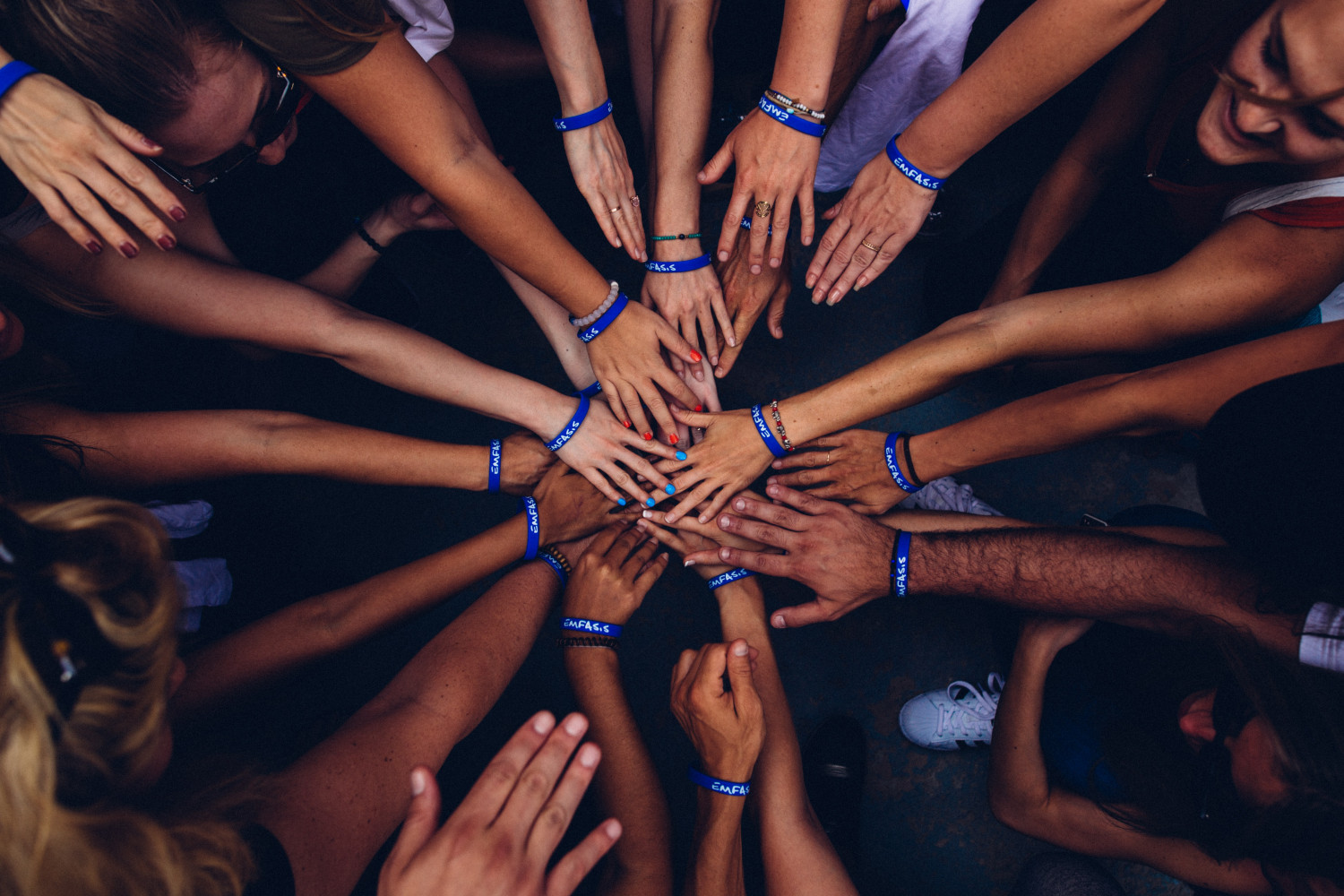 Hands in a circle