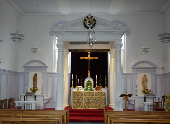 Church interior, July 2018